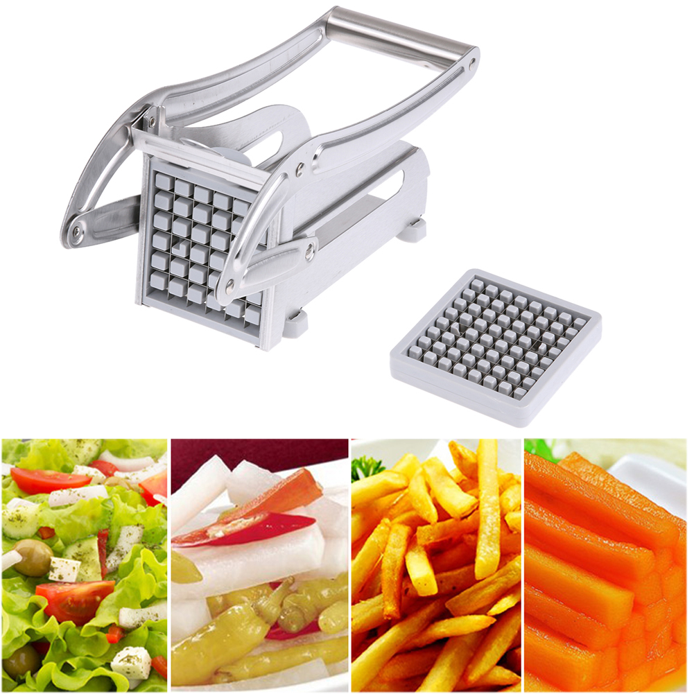 how to use a manual french fry cutter