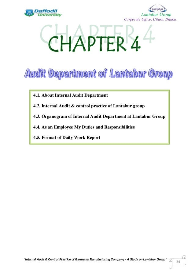 internal audit manual for manufacturing company