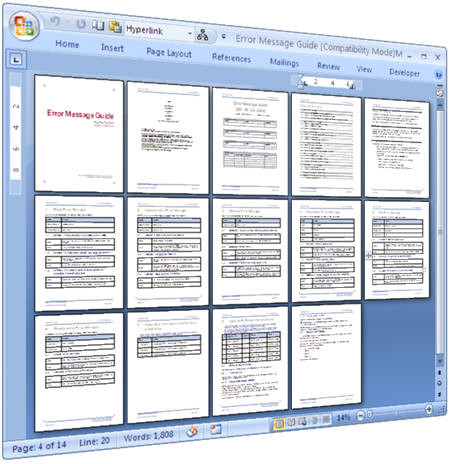 user manual format technical writing
